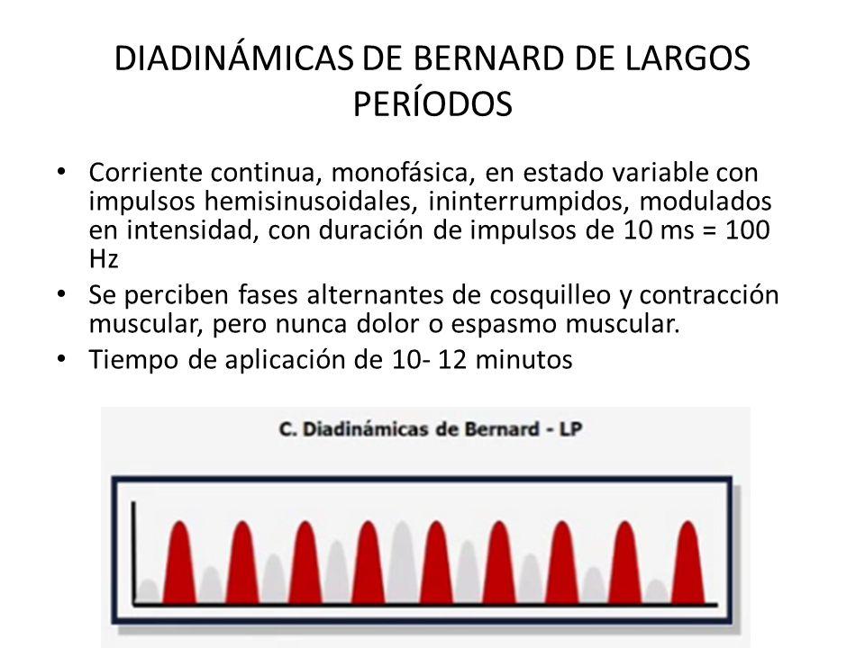 DIADINÁMICAS DE BERNARD DE LARGOS PERÍODOS