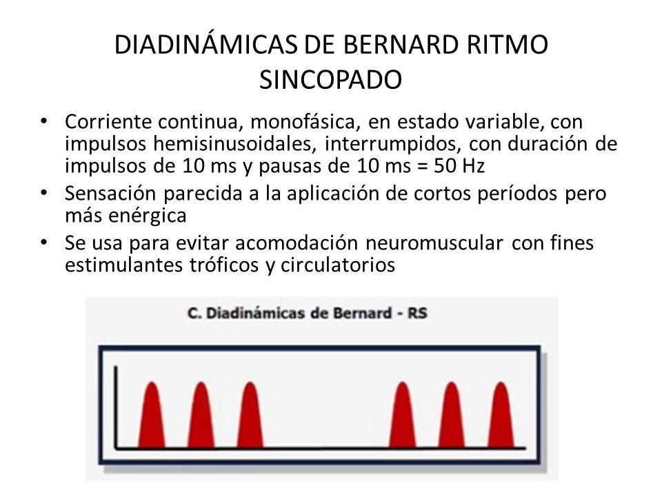 DIADINÁMICAS DE BERNARD RITMO SINCOPADO