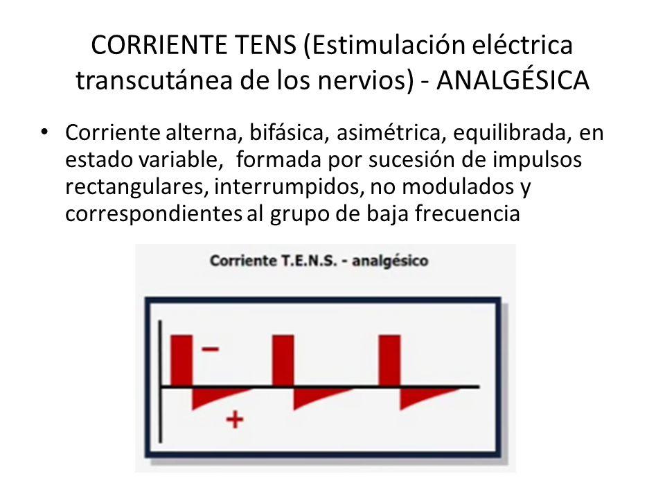 CORRIENTE TENS (Estimulación eléctrica transcutánea de los nervios) - ANALGÉSICA