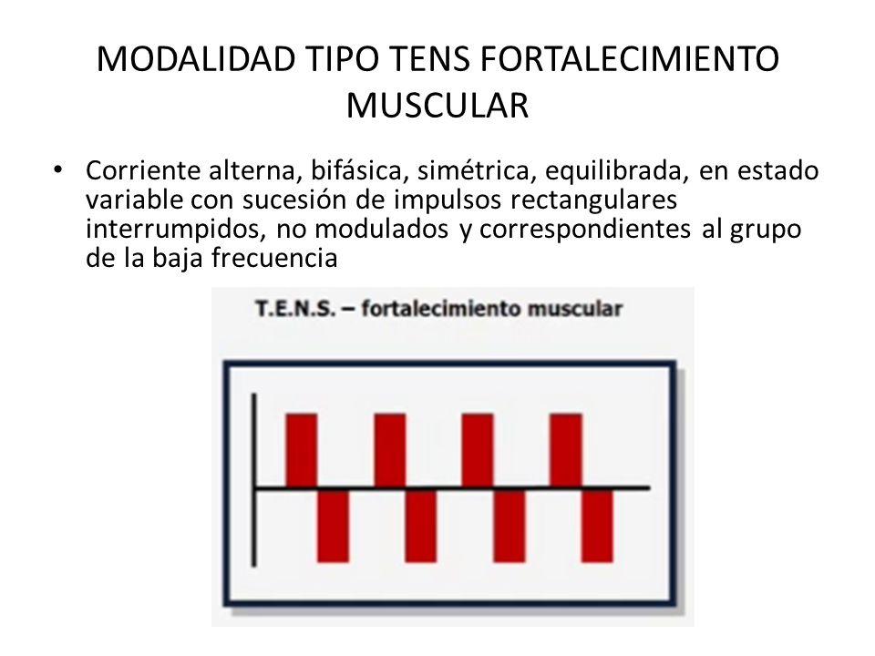 MODALIDAD TIPO TENS FORTALECIMIENTO MUSCULAR