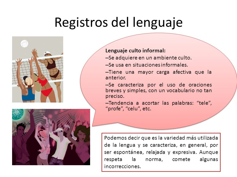 Registros del lenguaje