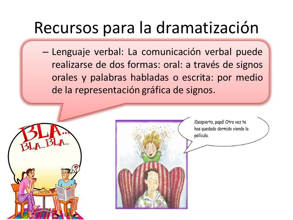 Recursos para la dramatización