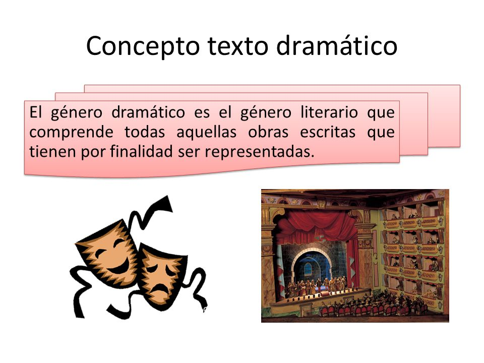 Concepto texto dramático