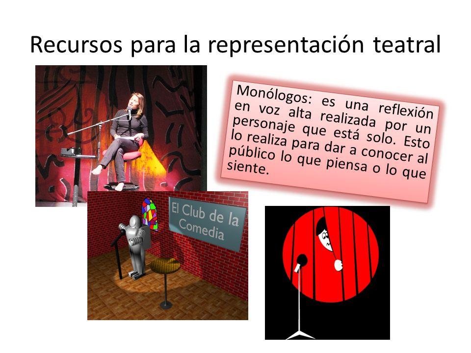 Recursos para la representación teatral