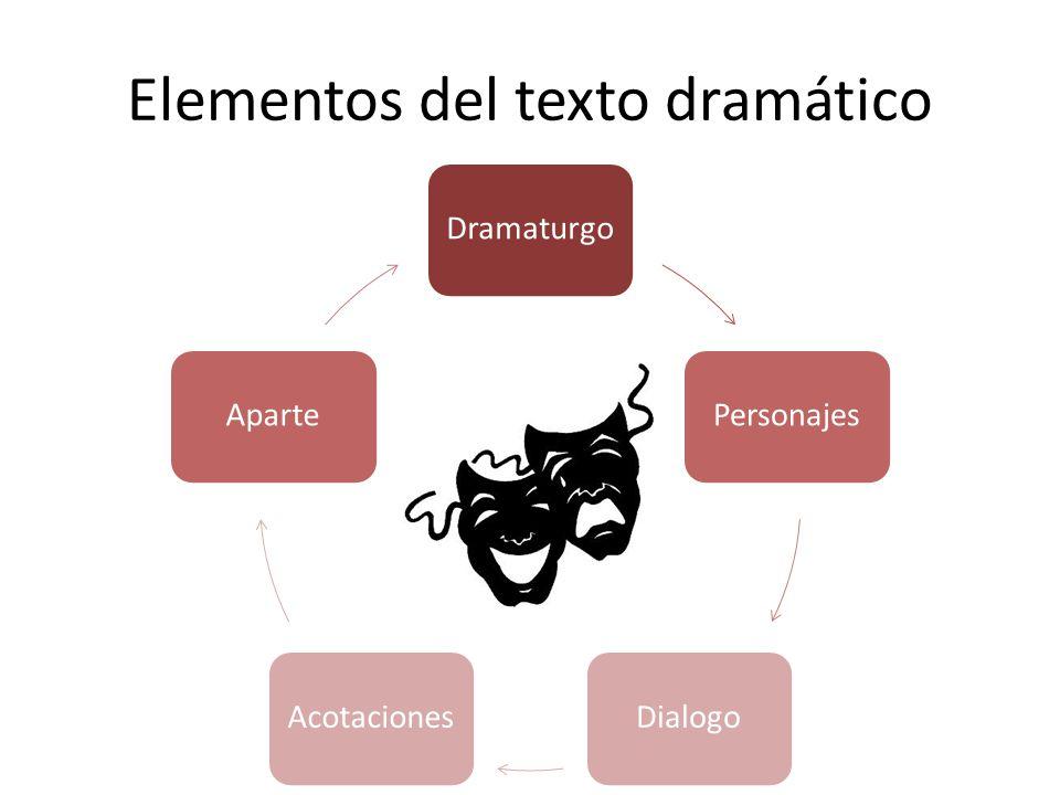 Elementos del texto dramático