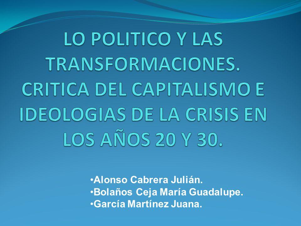LO POLITICO Y LAS TRANSFORMACIONES