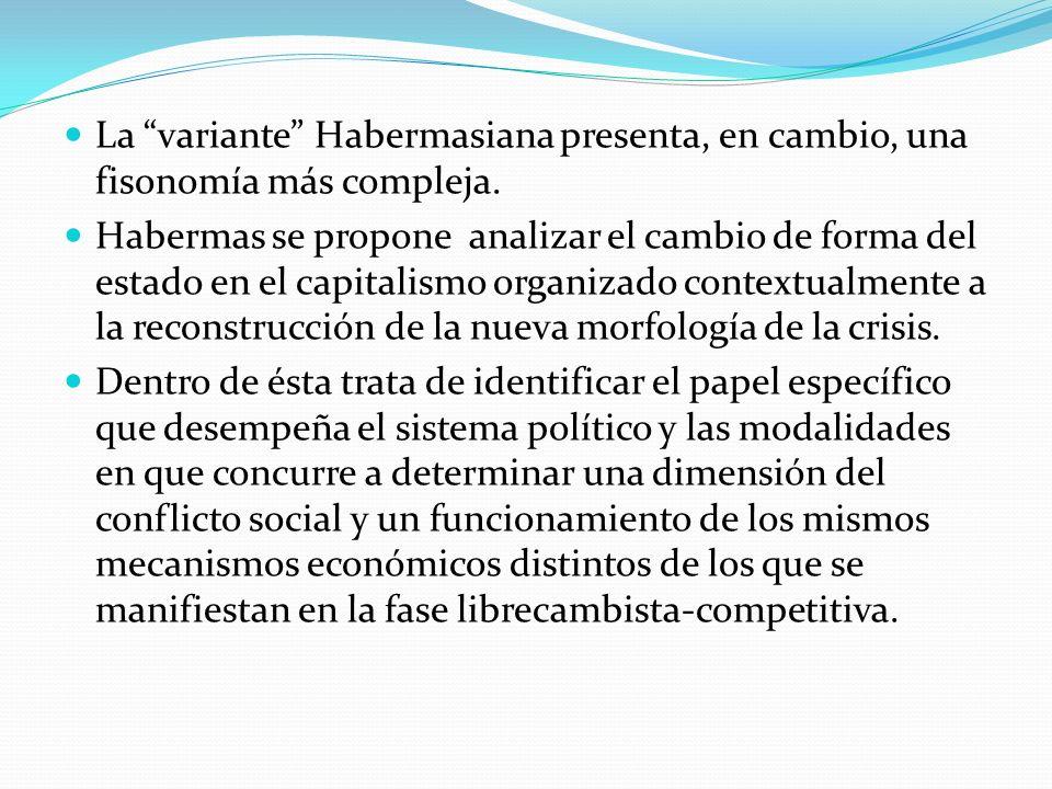 La variante Habermasiana presenta, en cambio, una fisonomía más compleja.