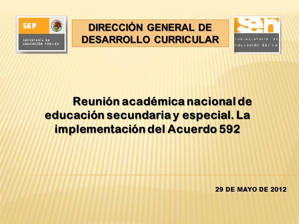 DIRECCIÓN GENERAL DE DESARROLLO CURRICULAR