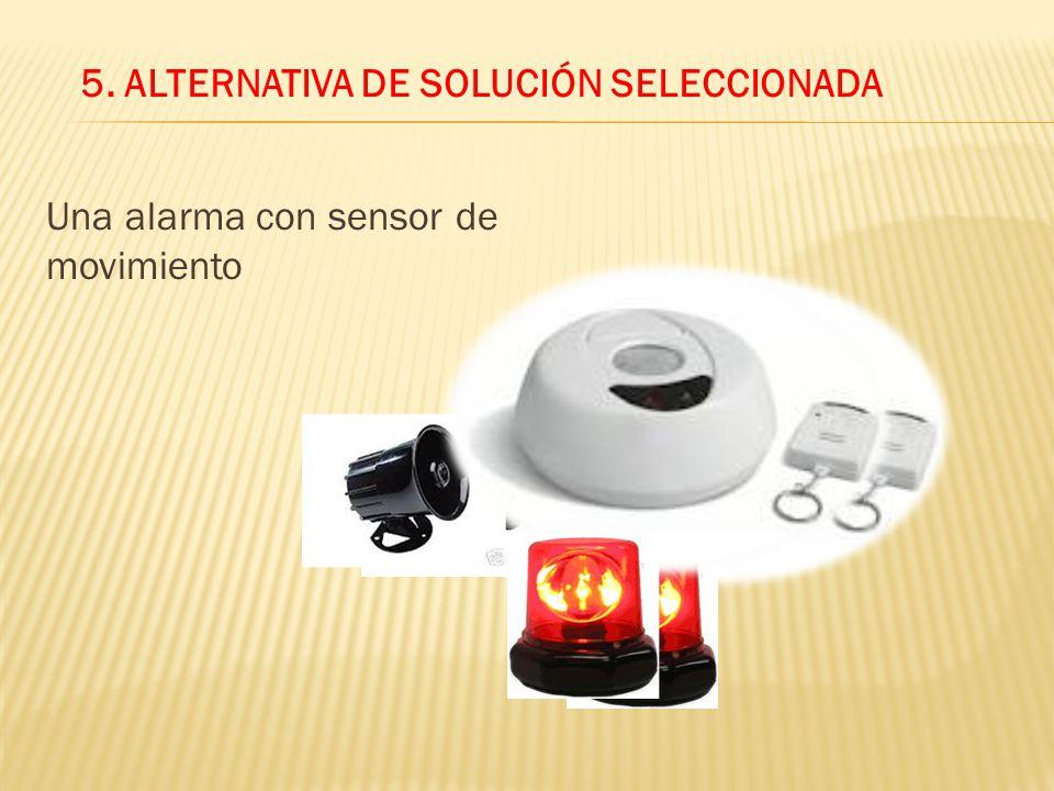 5. ALTERNATIVA DE SOLUCIÓN SELECCIONADA