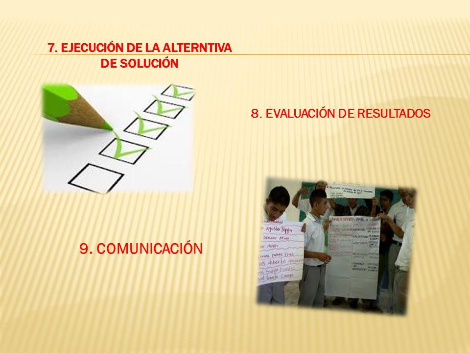 7. EJECUCIÓN DE LA ALTERNTIVA DE SOLUCIÓN