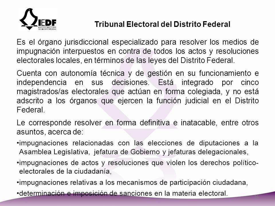 Tribunal Electoral del Distrito Federal