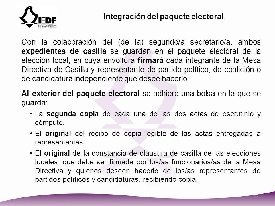 Integración del paquete electoral
