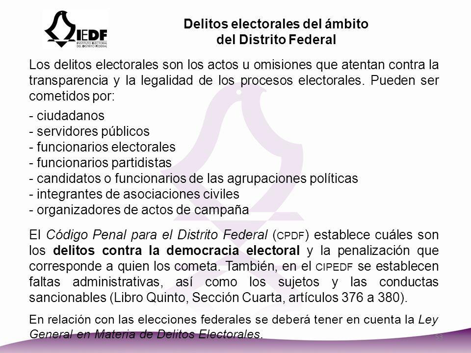 Delitos electorales del ámbito