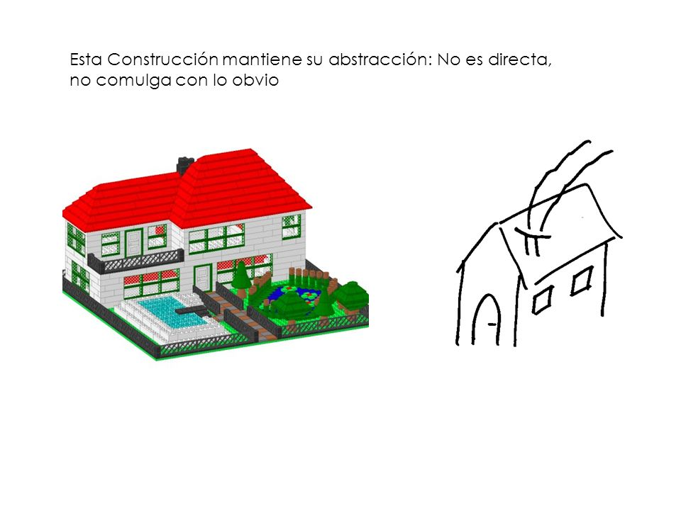 Esta Construcción mantiene su abstracción: No es directa, no comulga con lo obvio