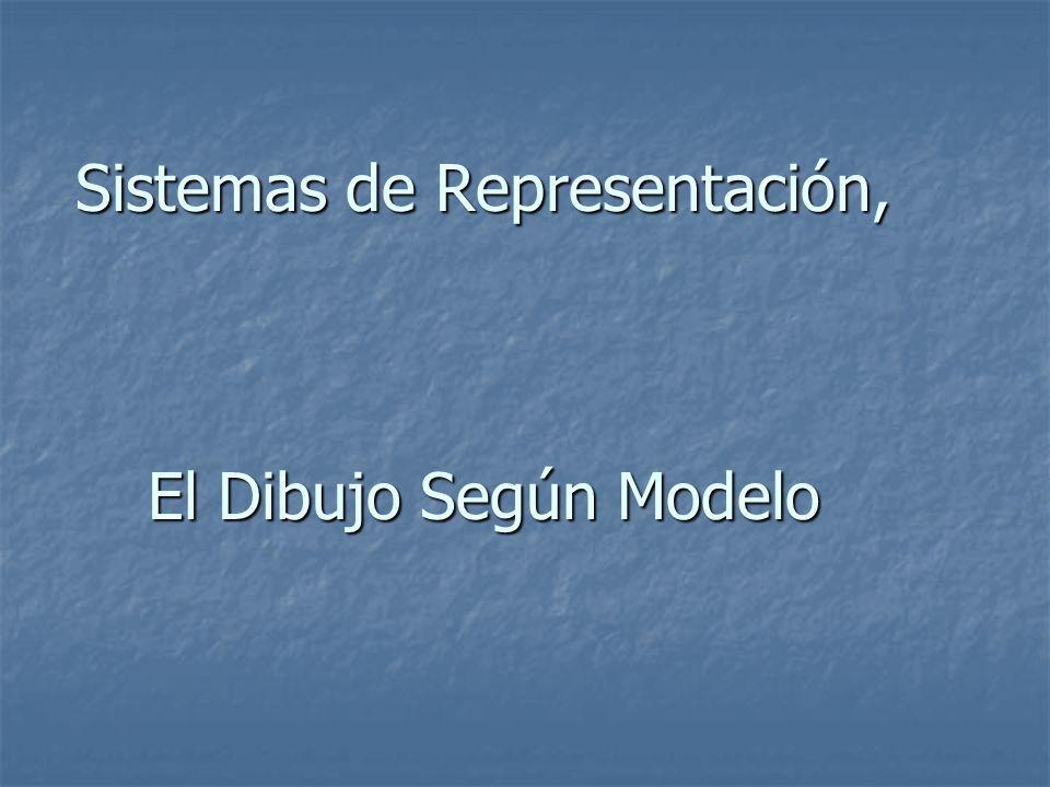 Sistemas de Representación, El Dibujo Según Modelo
