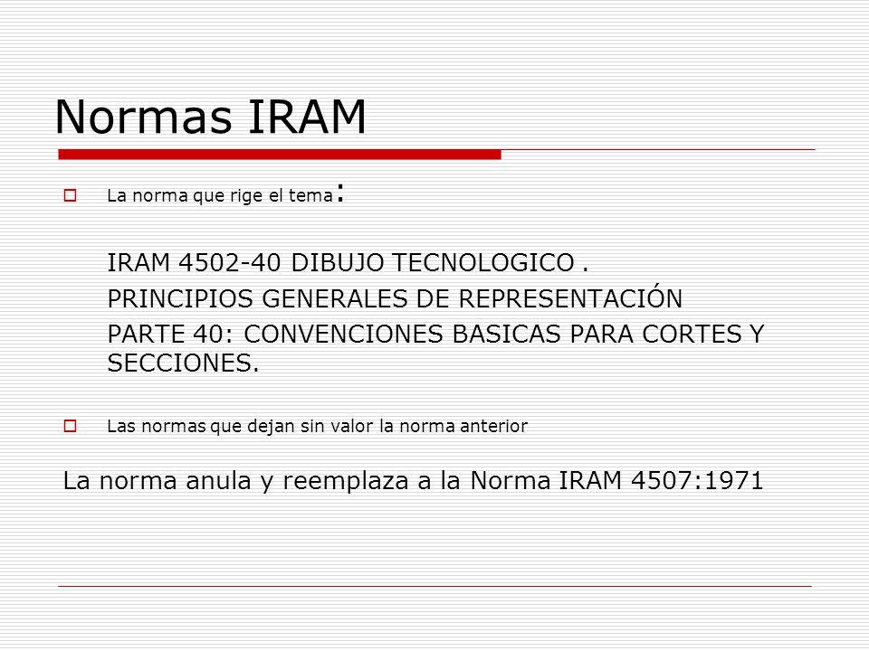 Normas IRAM IRAM 4502-40 DIBUJO TECNOLOGICO .