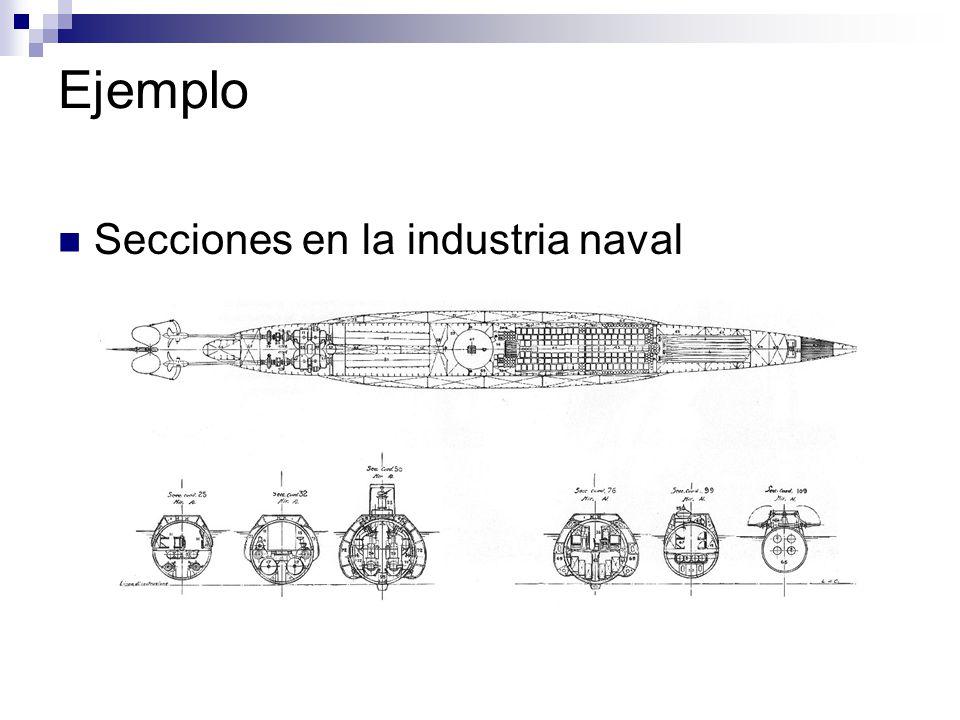 Ejemplo Secciones en la industria naval