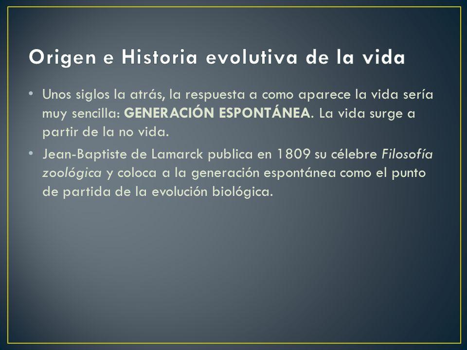 Origen e Historia evolutiva de la vida