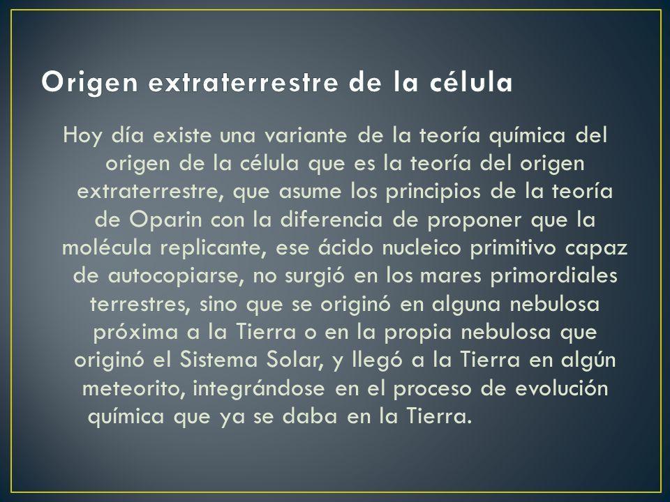 Origen extraterrestre de la célula