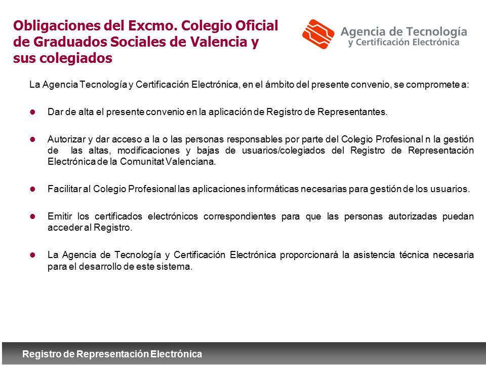 Obligaciones del Excmo