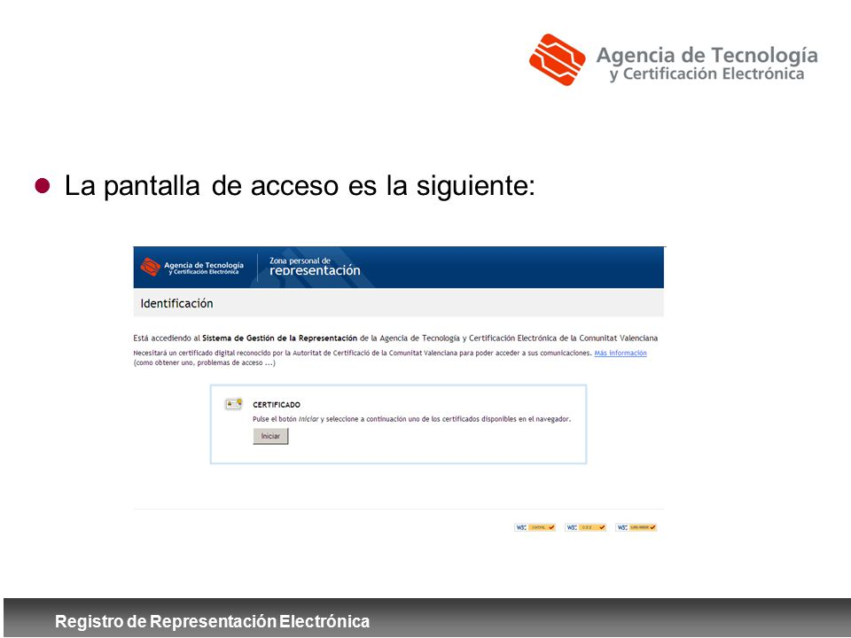 Registro de Representación Electrónica