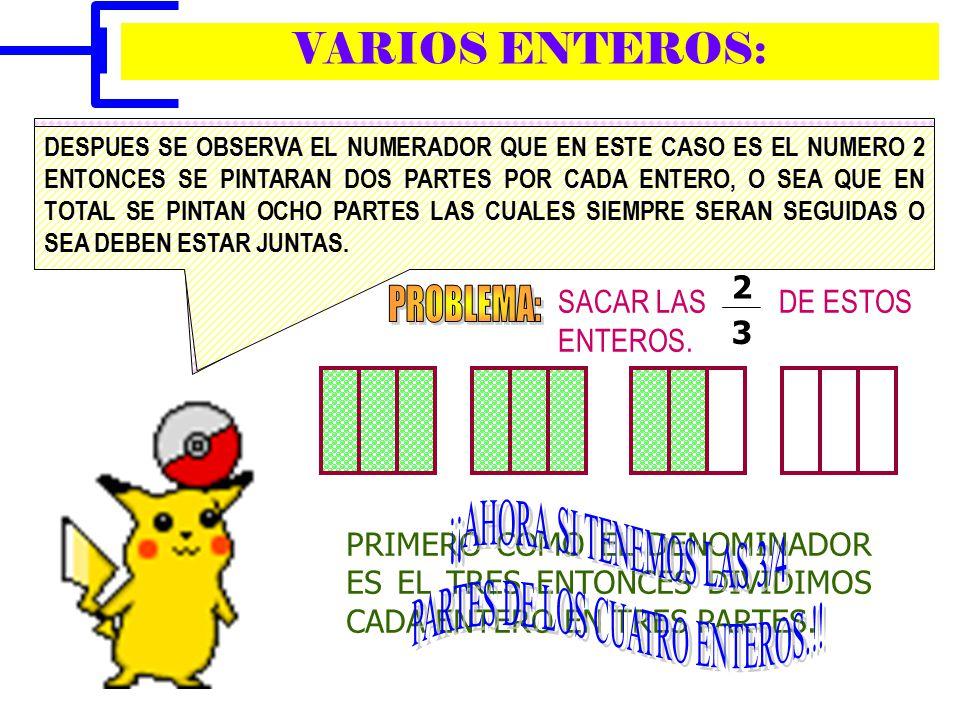 ¡¡AHORA SI TENEMOS LAS 3/4 PARTES DE LOS CUATRO ENTEROS.!!