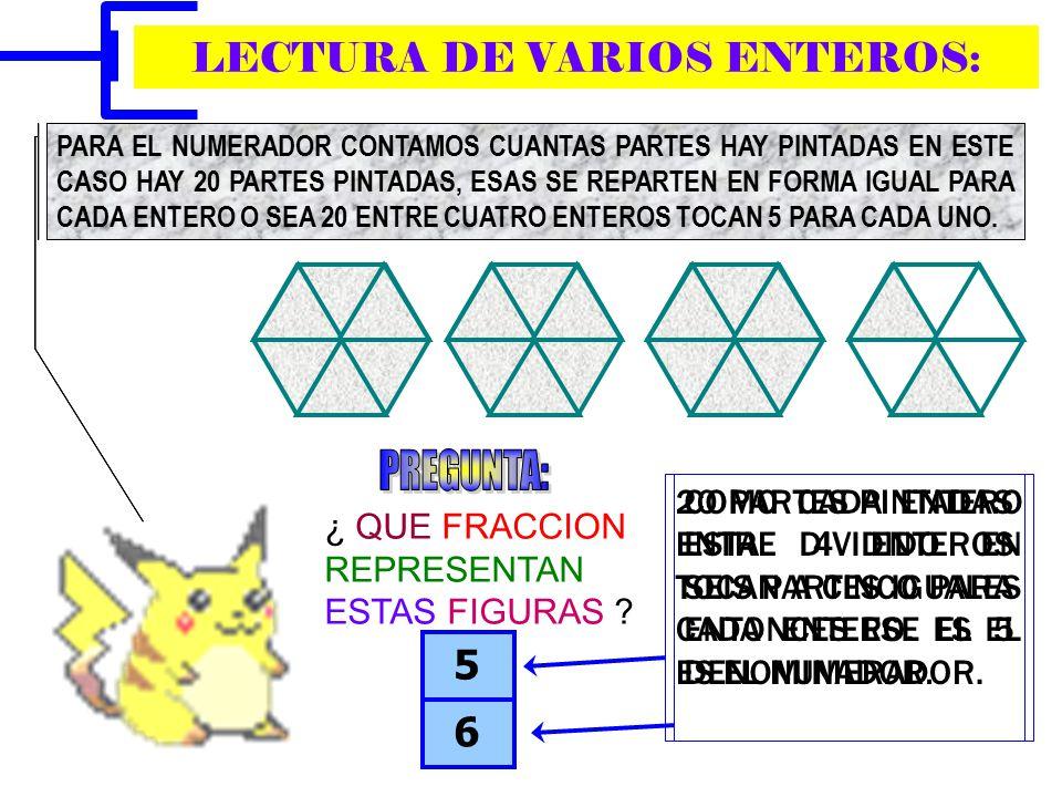 LECTURA DE VARIOS ENTEROS: