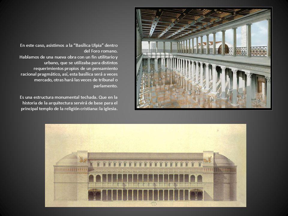 En este caso, asistimos a la Basílica Ulpia dentro del Foro romano