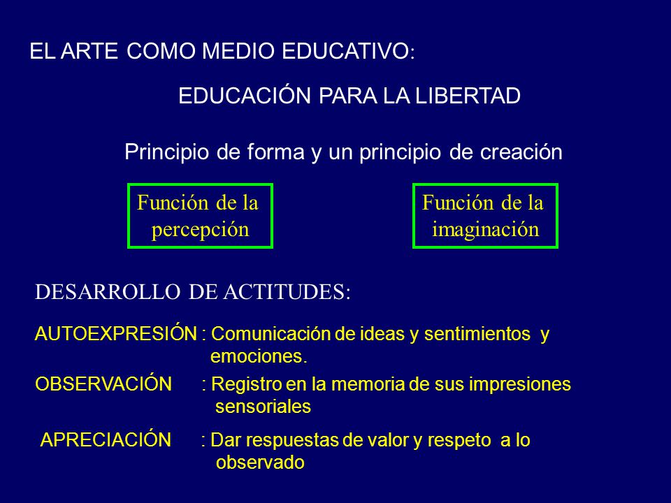 EL ARTE COMO MEDIO EDUCATIVO: