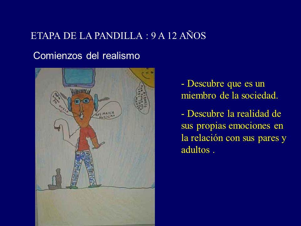 ETAPA DE LA PANDILLA : 9 A 12 AÑOS
