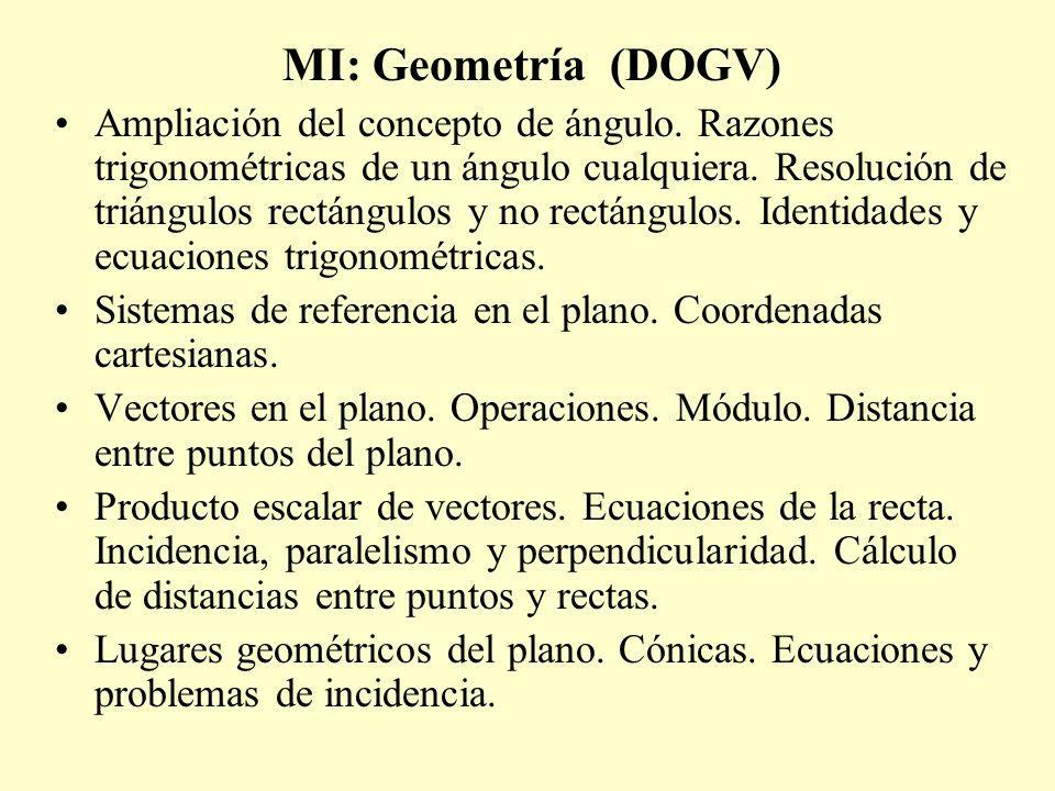 MI: Geometría (DOGV)