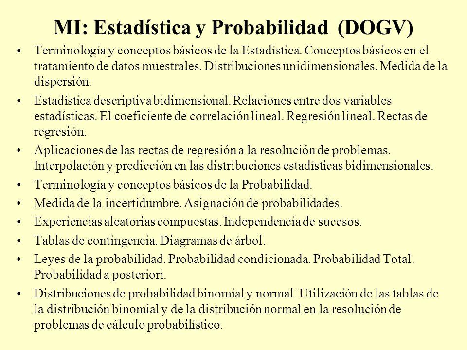 MI: Estadística y Probabilidad (DOGV)