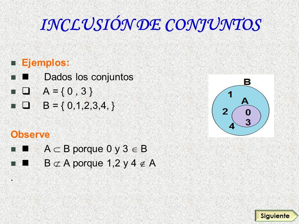 INCLUSIÓN DE CONJUNTOS