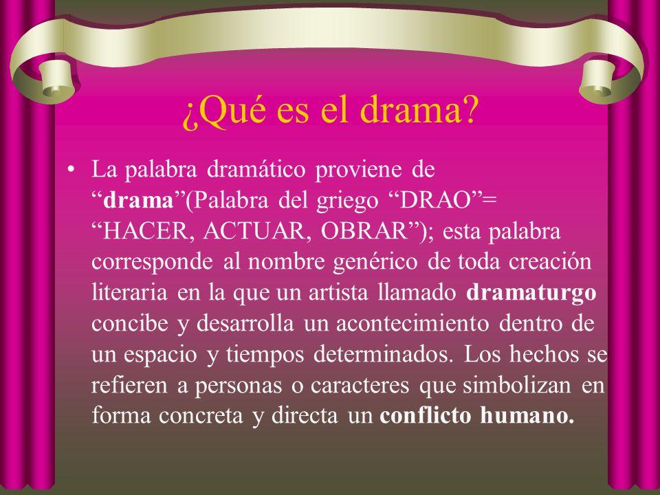 ¿Qué es el drama