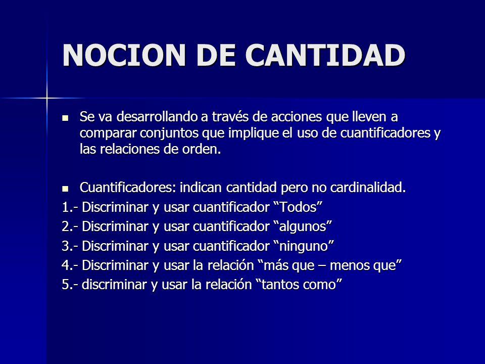 NOCION DE CANTIDAD