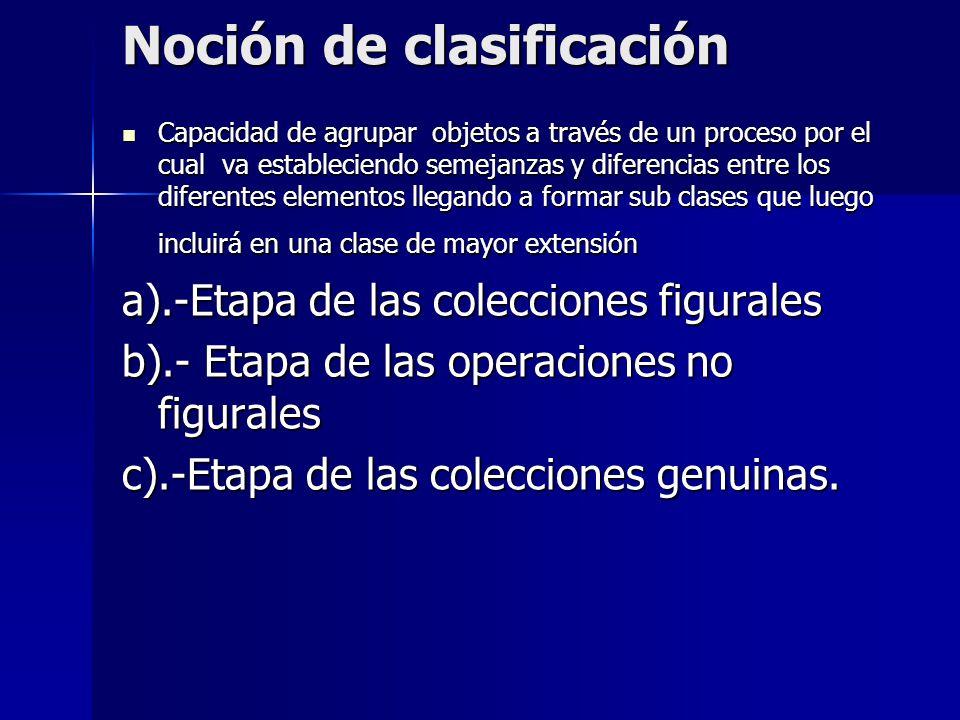 Noción de clasificación