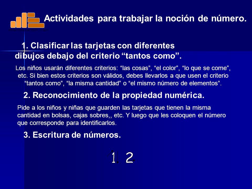 1 2 Actividades para trabajar la noción de número.
