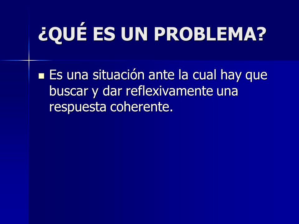 ¿QUÉ ES UN PROBLEMA.
