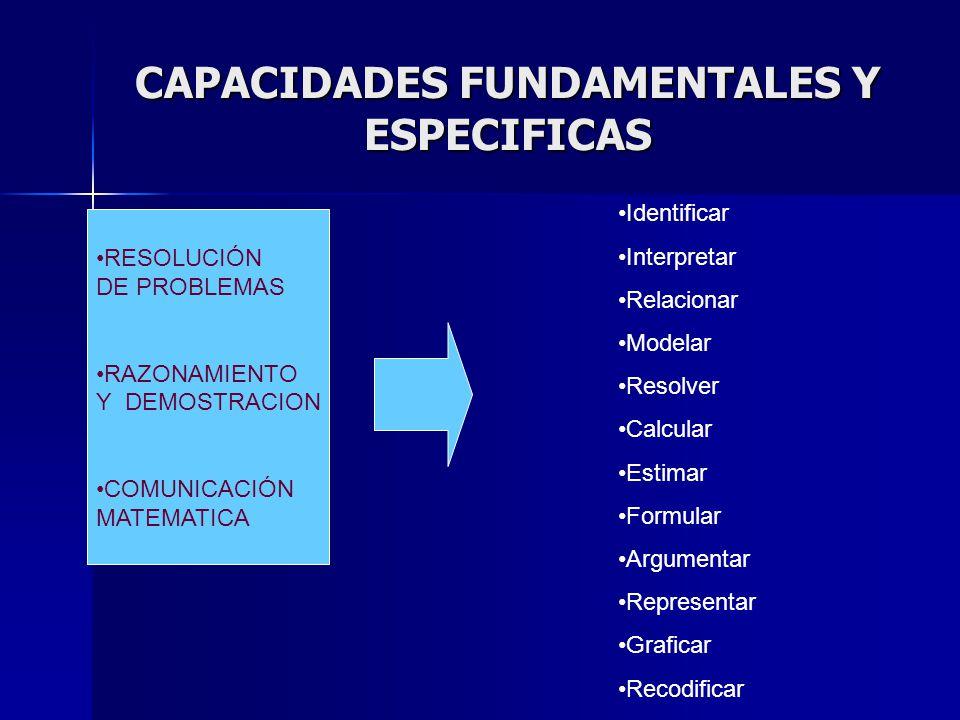 CAPACIDADES FUNDAMENTALES Y ESPECIFICAS