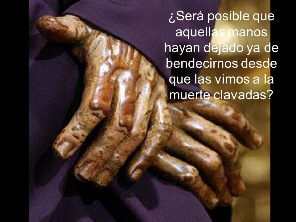 ¿Será posible que aquellas manos hayan dejado ya de bendecirnos desde que las vimos a la muerte clavadas
