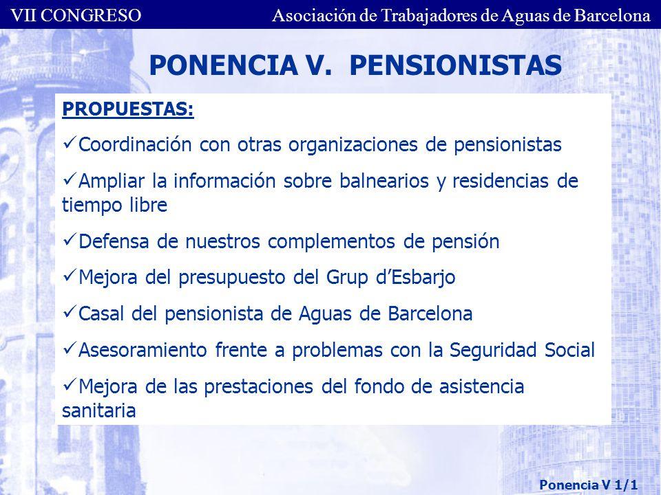 PONENCIA V. PENSIONISTAS