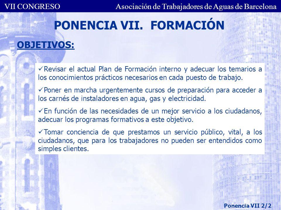 PONENCIA VII. FORMACIÓN