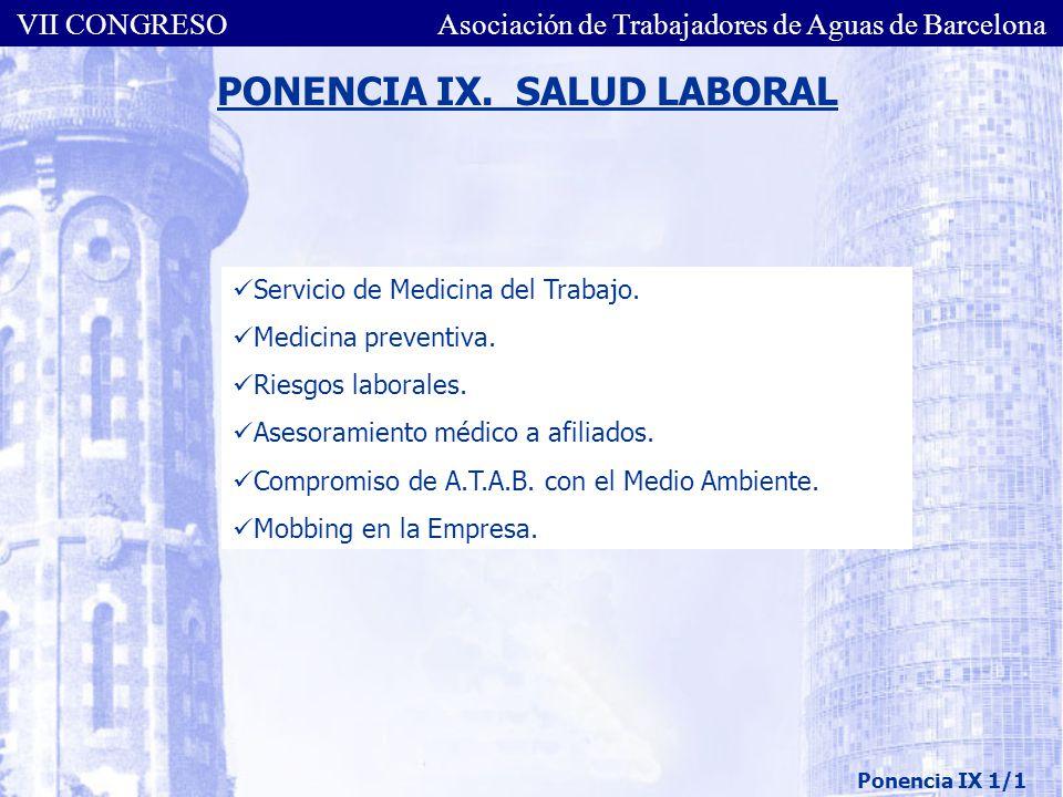 PONENCIA IX. SALUD LABORAL