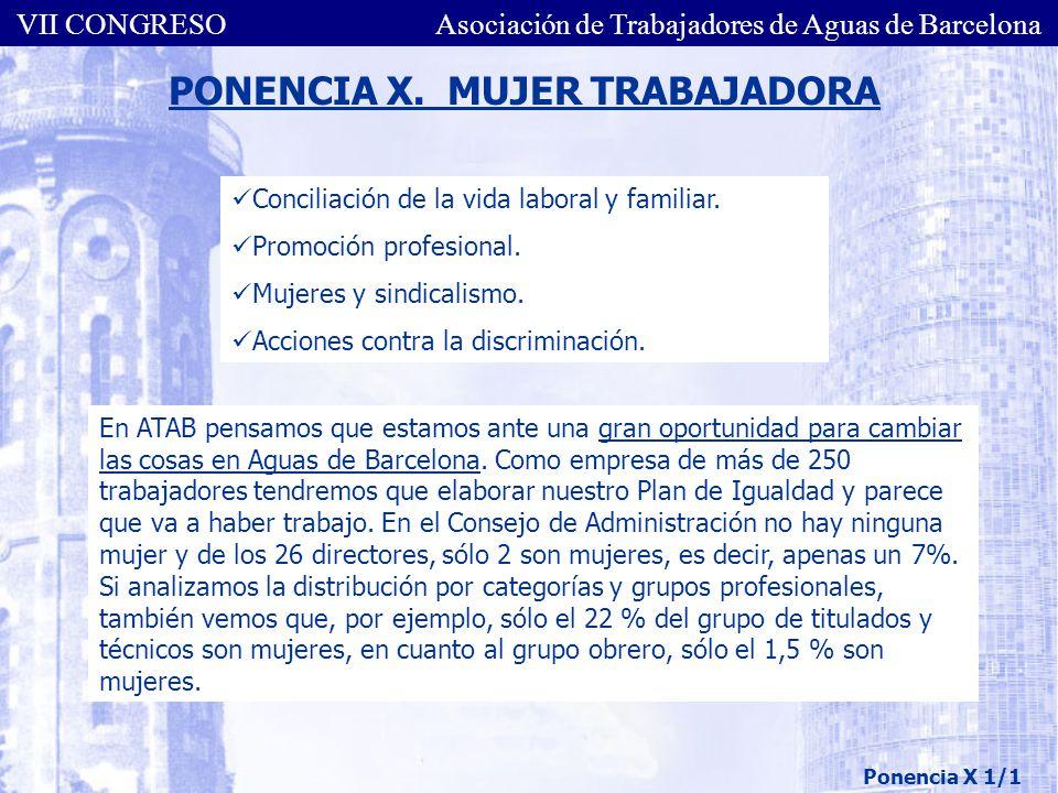 PONENCIA X. MUJER TRABAJADORA