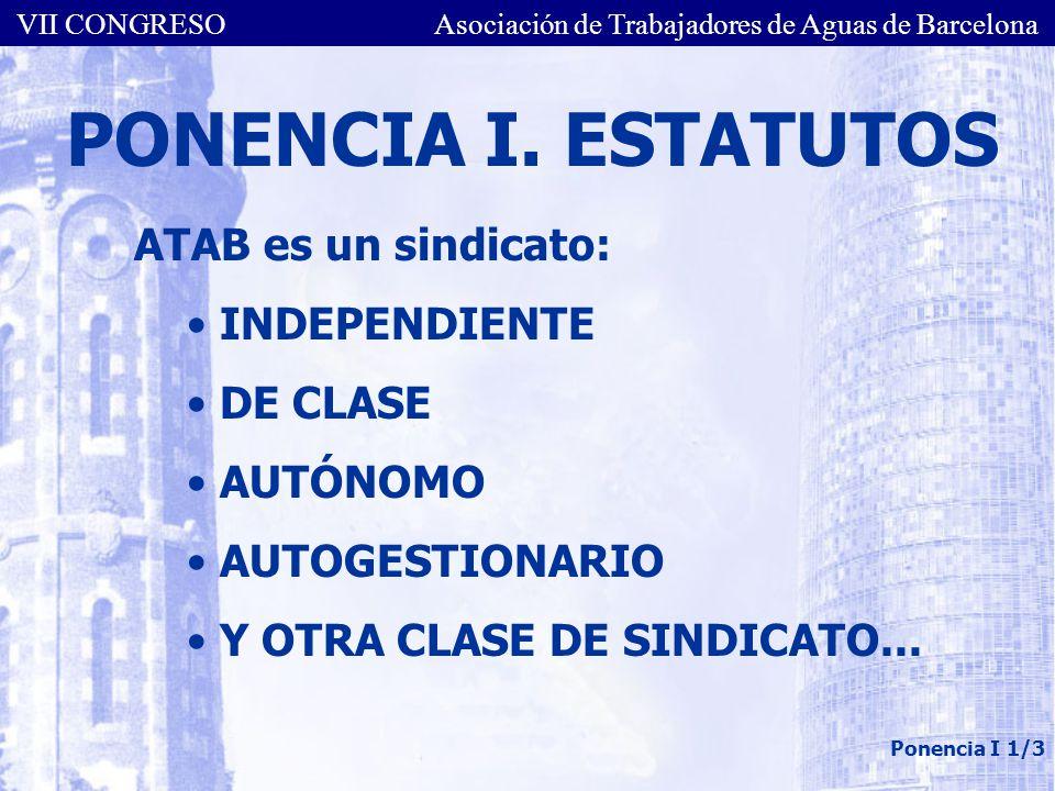 VII CONGRESO Asociación de Trabajadores de Aguas de Barcelona