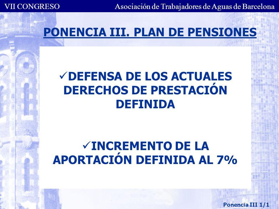 PONENCIA III. PLAN DE PENSIONES