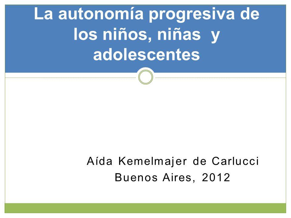 La autonomía progresiva de los niños, niñas y adolescentes