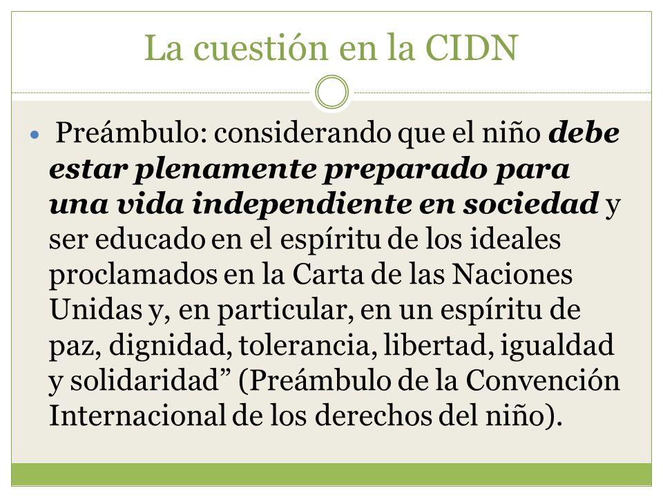 La cuestión en la CIDN