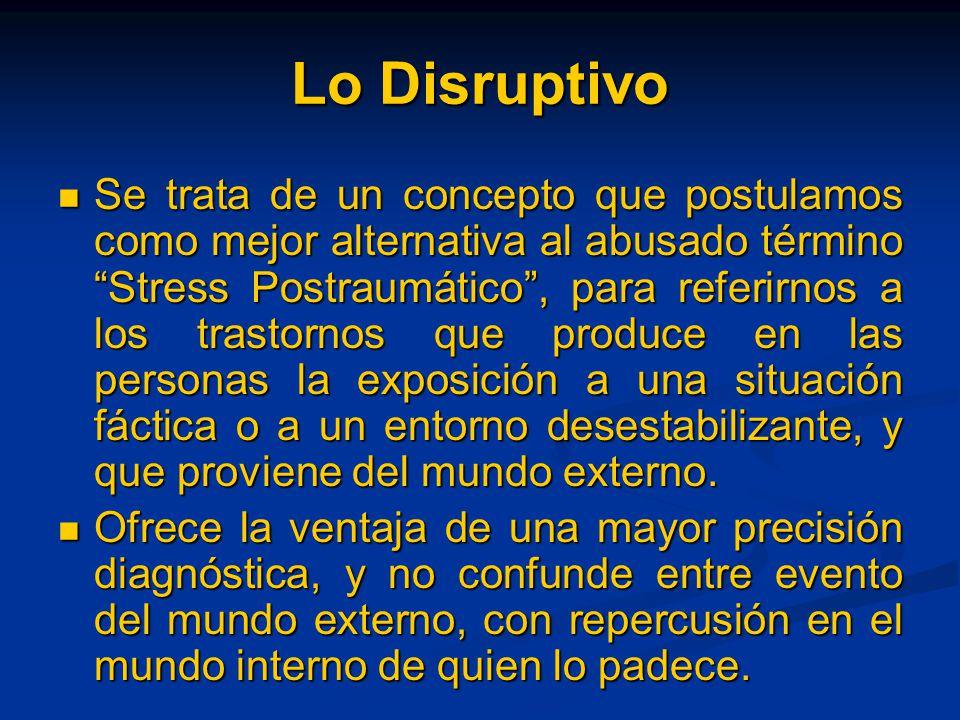Lo Disruptivo