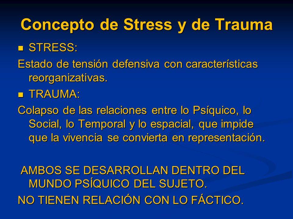 Concepto de Stress y de Trauma